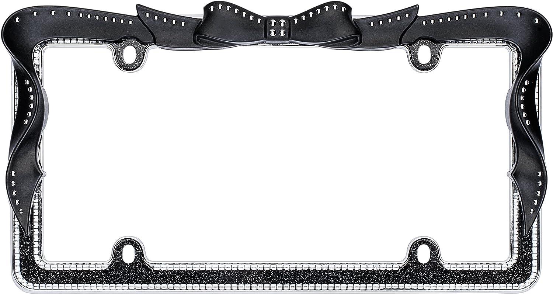 Amazon cruiser accessories 18545 ribbon bling license plate amazon cruiser accessories 18545 ribbon bling license plate frame black automotive jeuxipadfo Choice Image