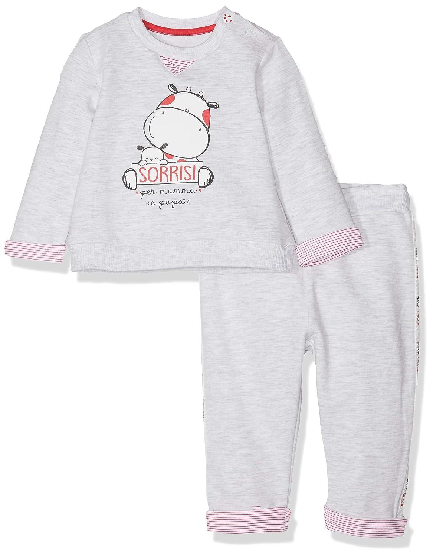 Chicco Completo T-Shirt Pantaloni Lunghi Mono Corto para Beb/és