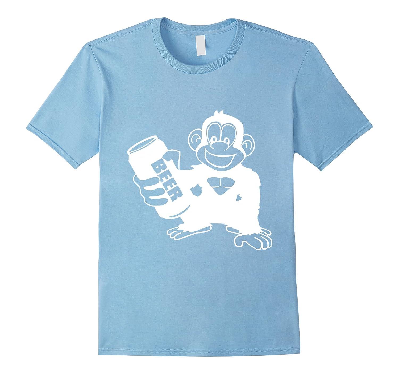 Bigfoot Drinking Beer T Shirt-FL