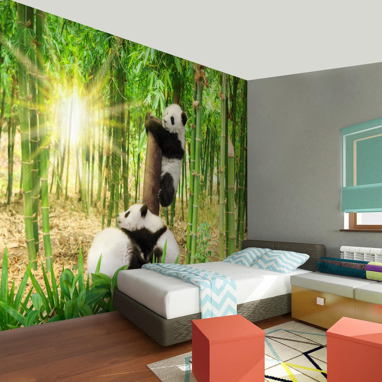 9332010a Tapisserie Photo Animaux panda Laine papier peint Salon Chambre Bureau Couloir d/écoration Peinture murale d/écor mural moderne 100/% FABRIQU/É EN ALLEMAGNE