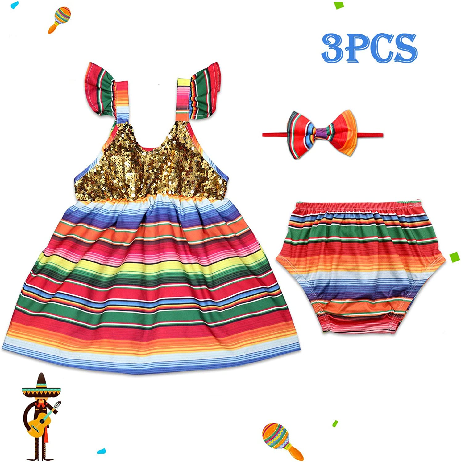 Mexican outfit baby bloomers and crop top mexican party first birthday day of the dead cinco de mayo uno fiesta cambaya first fiesta frida