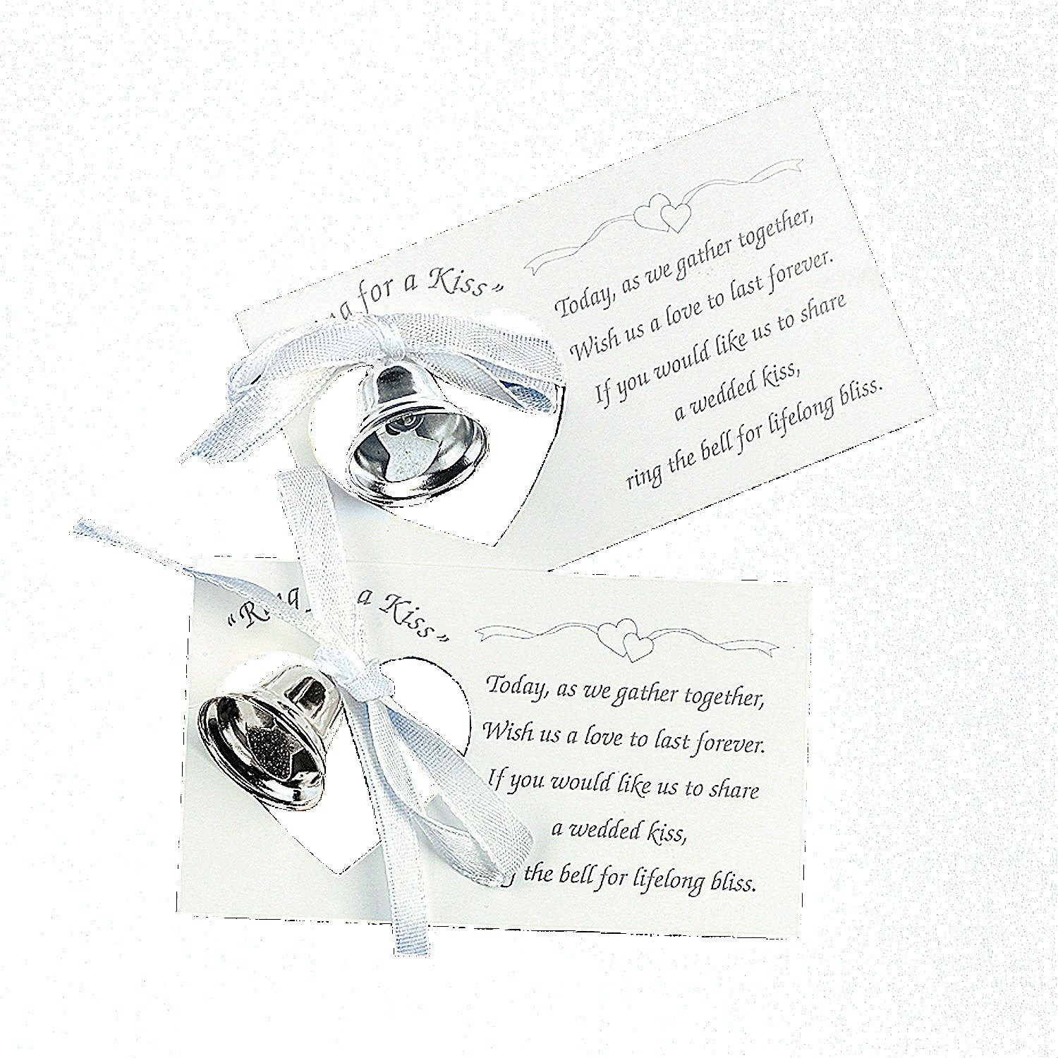 Amazon.com: Silver Wedding Mini Bell Decorations Favors (Set of 50 ...