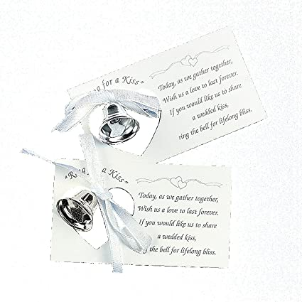 Amazon Silver Wedding Mini Bell Decorations Favors Set Of 50