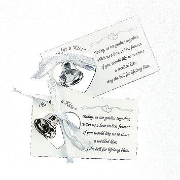 Amazon Silver Wedding Mini Bell Decorations Favors Set Of 50