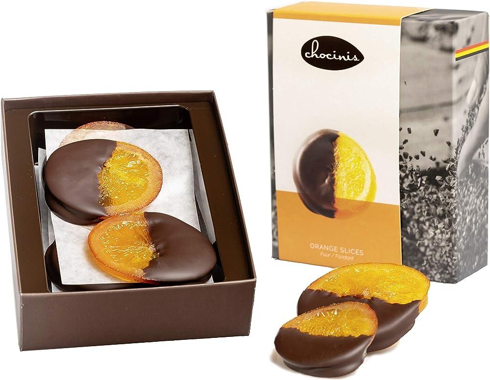 Duva premium fettine di arancia immerse nel cioccolato fondente belga 200g