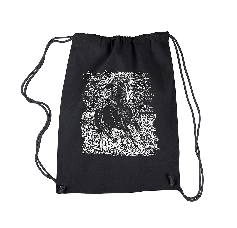 Amazon.com: LA POP ART Drawstring Word Art Backpack ...