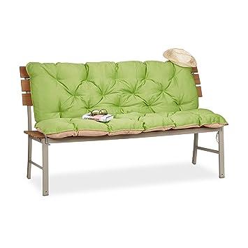 Relaxdays Matelas Coussin Pour Banc De Jardin Terrasse Balcon