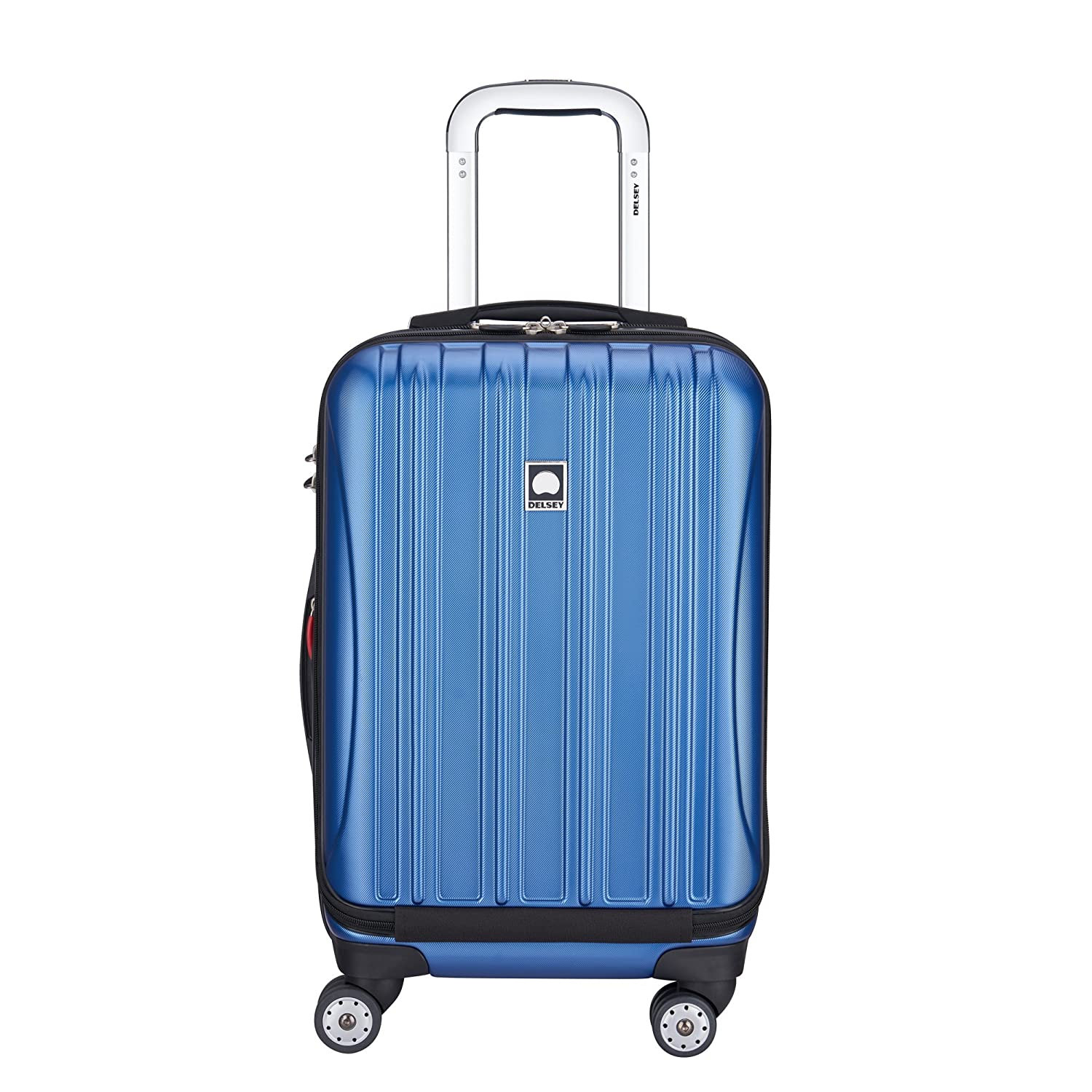 Delsey Luggage Helium Aero, International Carry On Luggage, Front Pocket Hard Case Spinner Suitcase, Cobalt Blue Inc. 07640BD