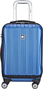 """DELSEY Paris Helium Aero International Carry on Expandable Spinner Trolley - 19"""", Blue Textured (Blue) - 400764032"""