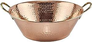 Solid Copper Hammered Preserve Pan, 10 Qt.