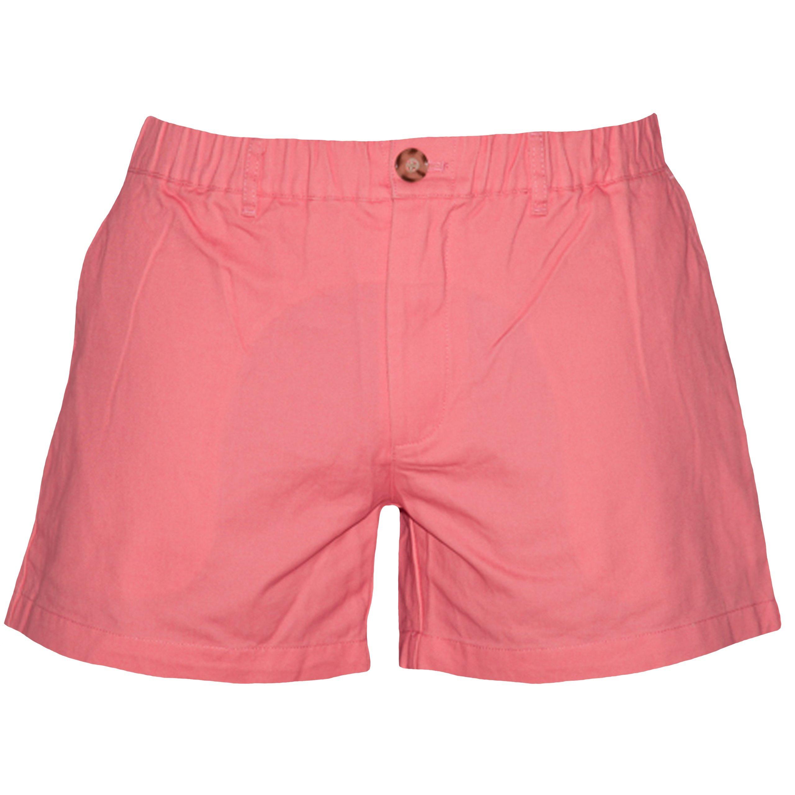Meripex Apparel Men's 5.5 inch Elastic-Waist Short Shorts (Small, Coral)