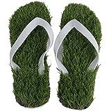 Hausschuhe Rasen - TOOGOO(R) Sommer Kuehle Hefterkunstrasen Wohnungen Flip Flops Sandalen Schuhe Groesse 35