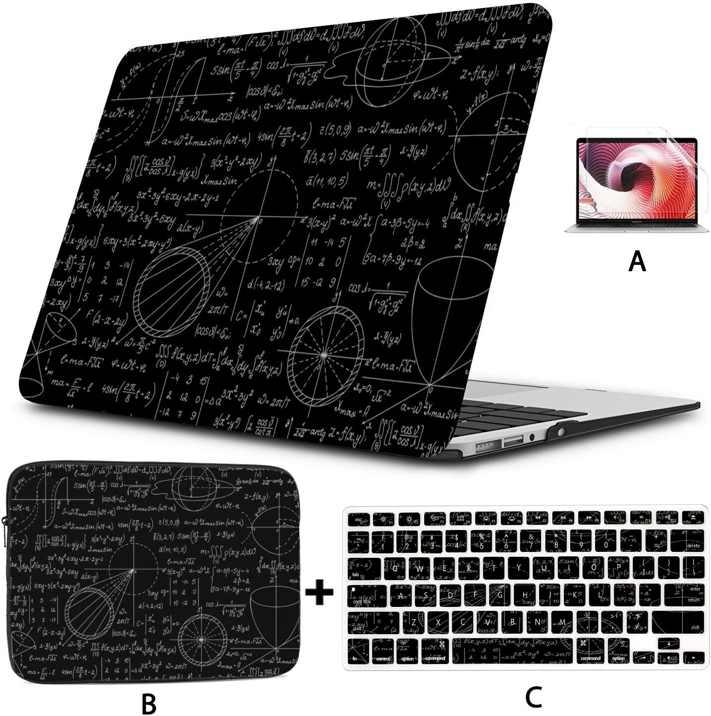 """15 Inch Laptop Cover Math Physics Equation Design A1706 MacBook Pro Case Hard Shell Mac Air 11""""/13"""" Pro 13""""/15""""/16"""" with Notebook Sleeve Bag for MacBook 2008-2020 Version"""