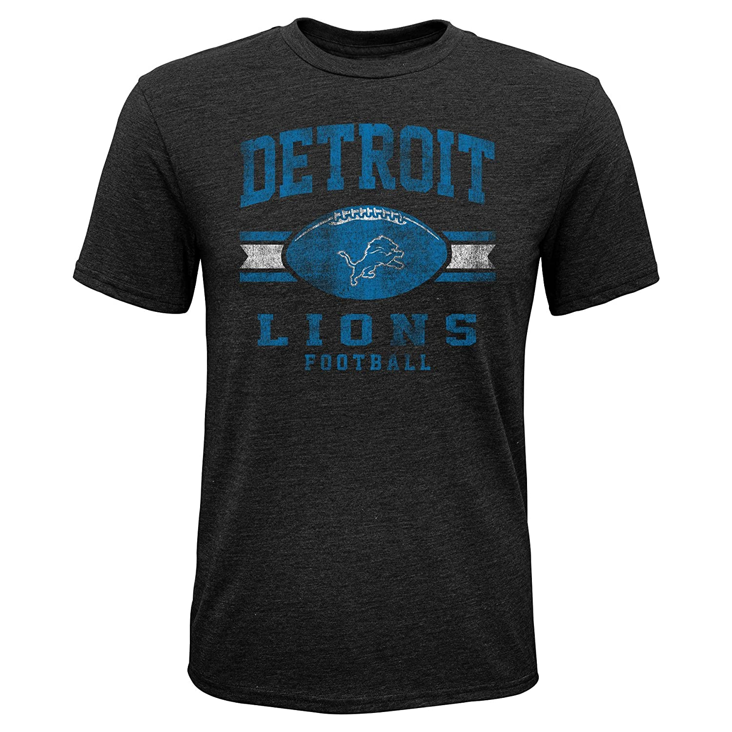 Black 14-16 Youth Large NFL by outerstuff NFL Detroit Lions Youth Boys Player Pride Short Sleeve Tri-blend Tee