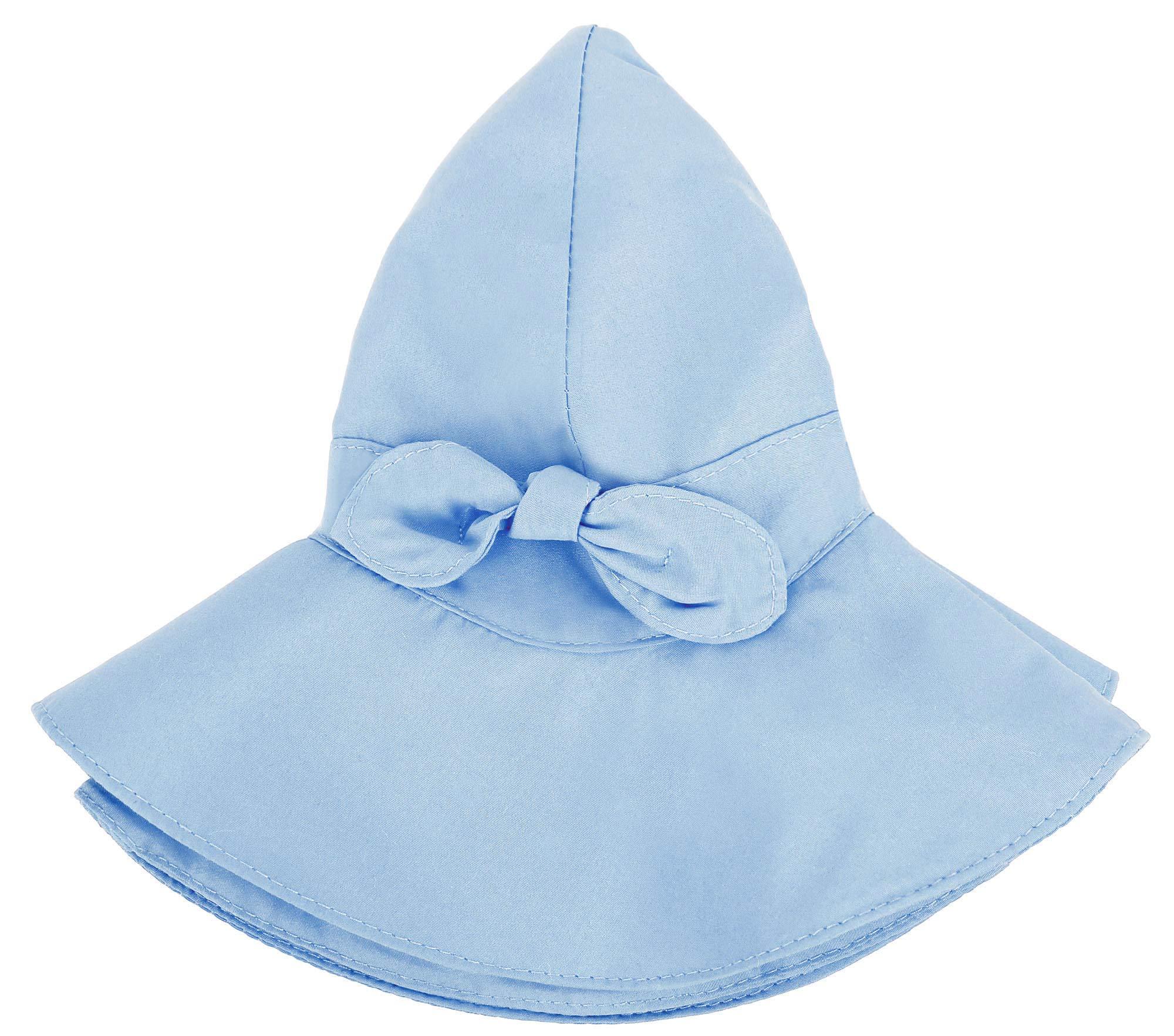 Siero Baby Wide Brim Sun Protection Hat UPF50+ Adjustable Cap, Blue 12-24 Months