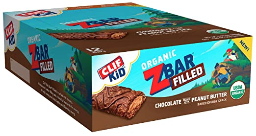 CLIF KID ZBAR - Organic Energy Bar - Chocolate Peanut Butter - (1.06 Ounce Snack Bar, 12 Count)