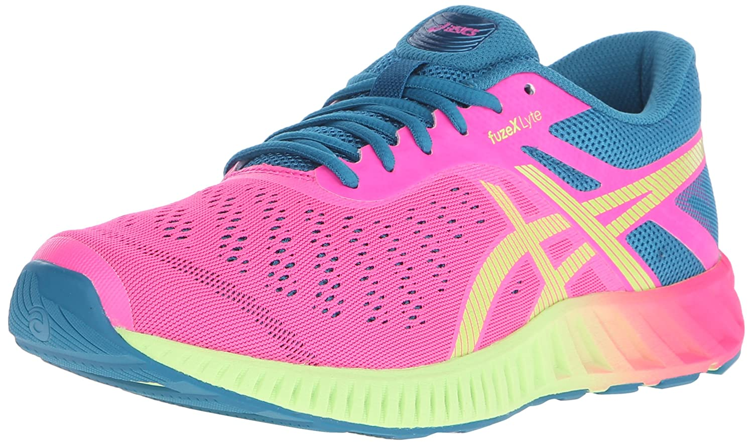 ASICS Women's fuzeX Lyte Running Shoe B00YB0K95G 6 B(M) US|Hot Pink/Sharp Green/Ocean Depths