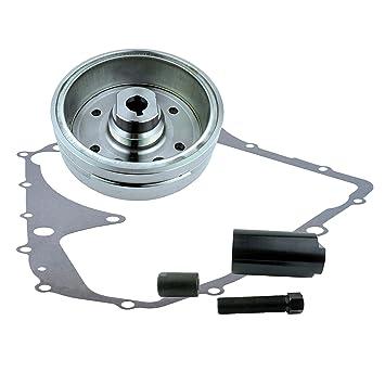 Kit Improved Magneto Flywheel + Flywheel Puller + Gasket For Suzuki LTA 400  Eiger Arctic Cat 400 Auto 2002 2003 2004 2005 2006 2007 2008