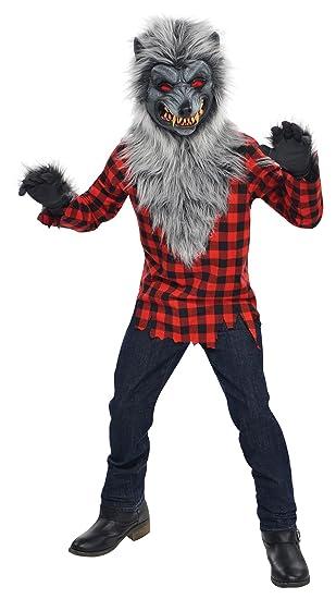 Amscan Disfraz de hombre lobo, con máscara y guantes, para 14 – 16 años