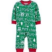 Carter's Baby Christmas Footless Sleep & Play, Green, 3m