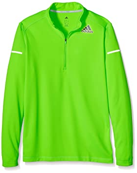 adidas - Camiseta de fitness para hombre Sequencials Climalite, color verde, talla S