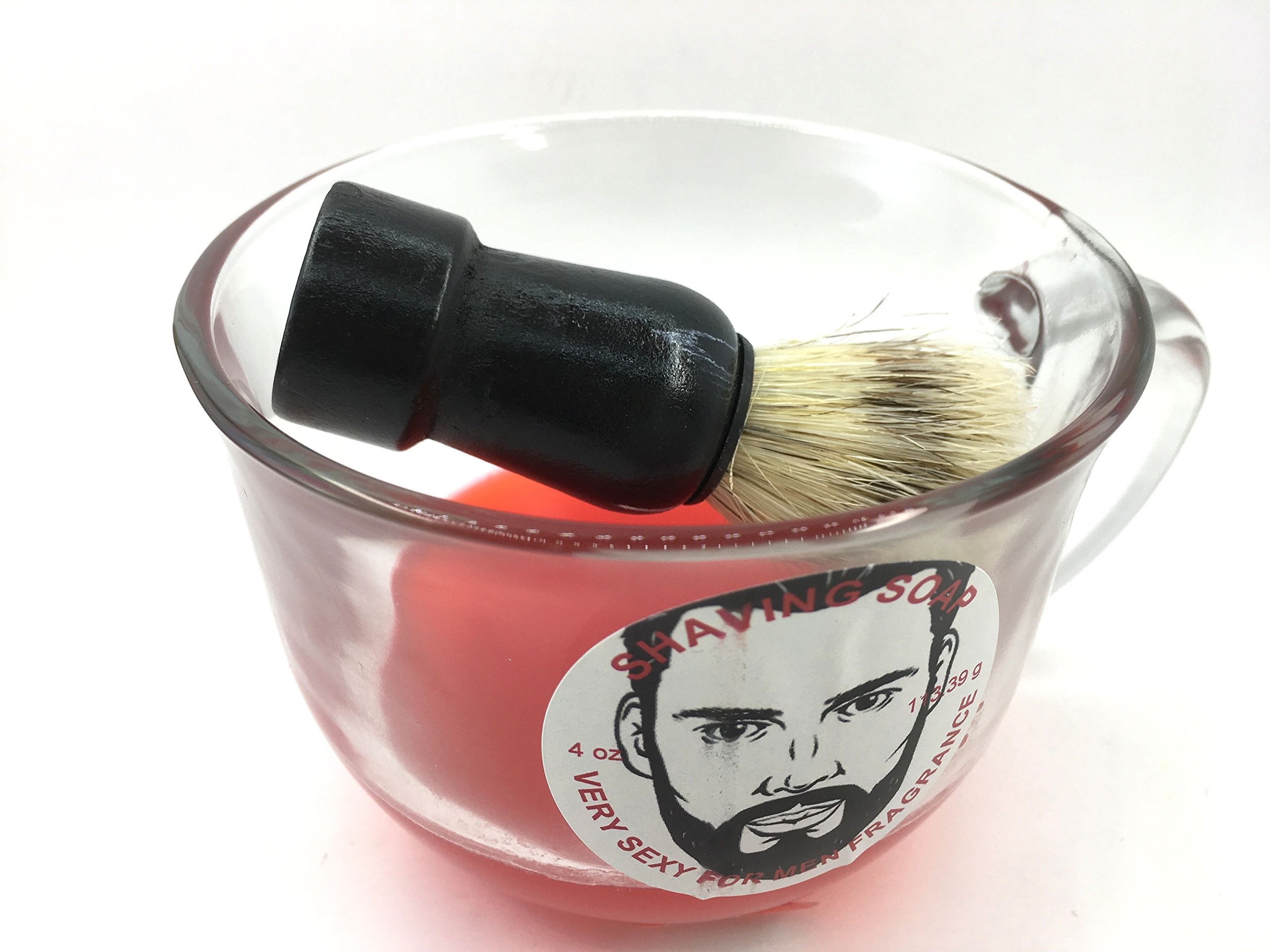 Shaving soap and brush set 4 oz Very Sexy Type fragrance