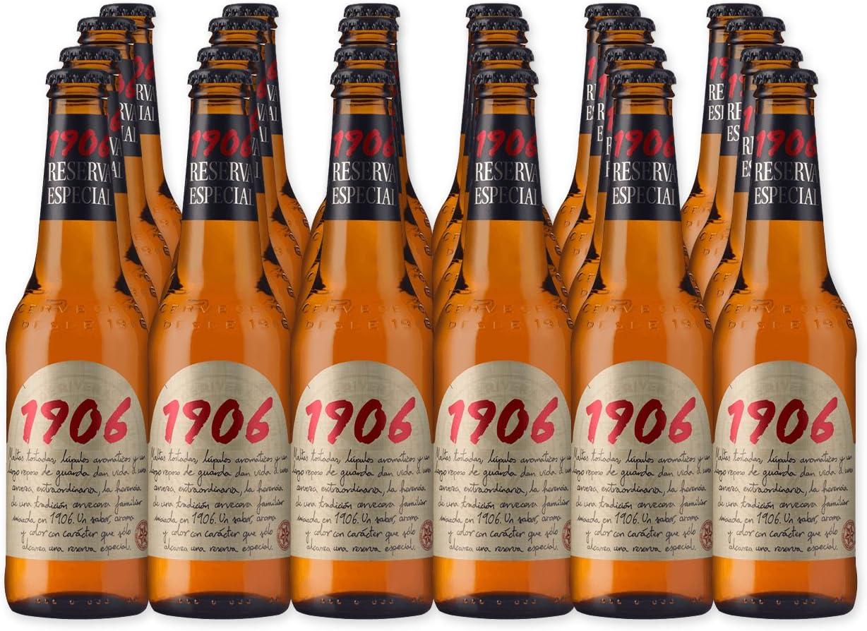 Estrella Galicia 1906 - Cerveza Reserva Especial, pack 24 botellas x 33 cl: Amazon.es: Alimentación y bebidas
