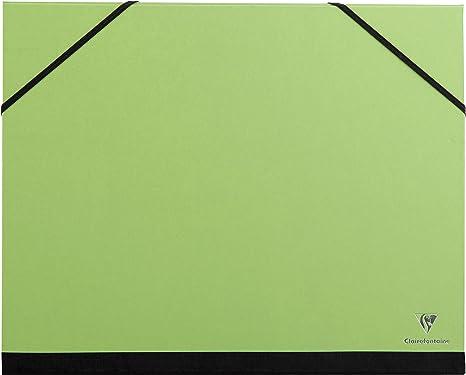 Gummizug, DIN A4+, 26 x 33 cm, ideal zur Aufbewahrung Ihrer Werke Clairefontaine 44605C Zeichenmappe kirschrot