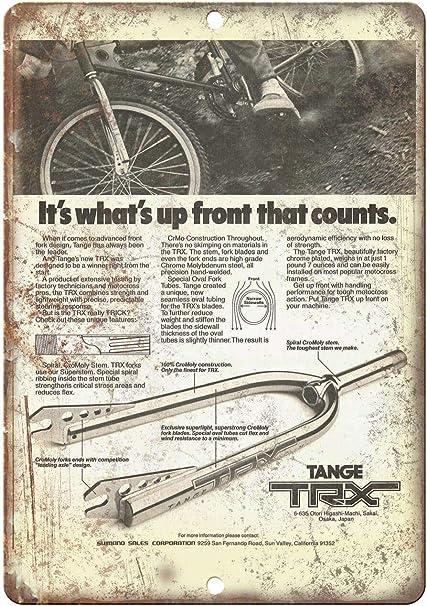 Vintage Retro Aluminum Sign Tange TRX BMX Forks - Metal Sign ...