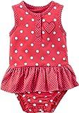 Carter's Baby Girls' Polka Dot Heart Sunsuit 6 Months