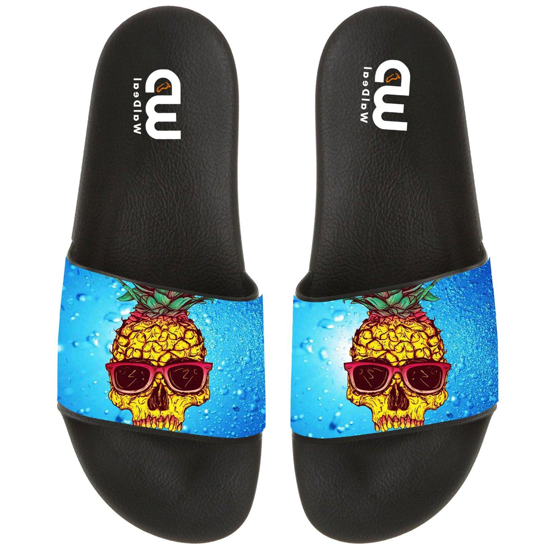 Cartoon Cute Pineapple Sunglasses Summer Slide Slippers For Men Women Boy Girl Outdoor Beach Sandal Shoes