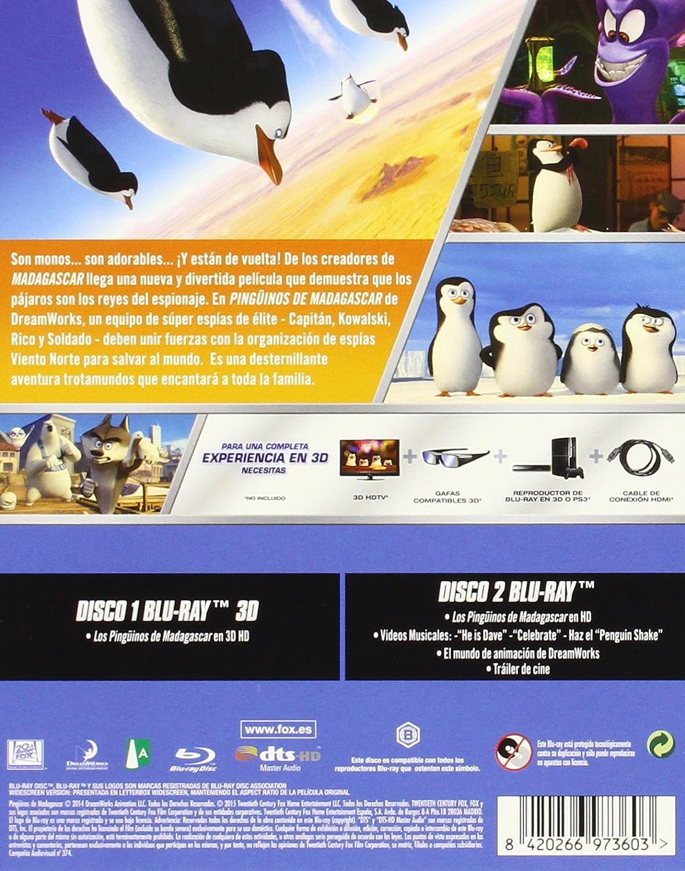 Los Pinguinos De Madagascar - Blu-Ray 3d [Blu-ray]: Amazon.es: Animación, Eric Darnell, Simon J. Smith, Animación, Jennifer Dahlman, Eric Darnell, Tripp Hudson, Christopher Leahy, Tom Mcgrath, Mireille Soria: Cine y Series TV