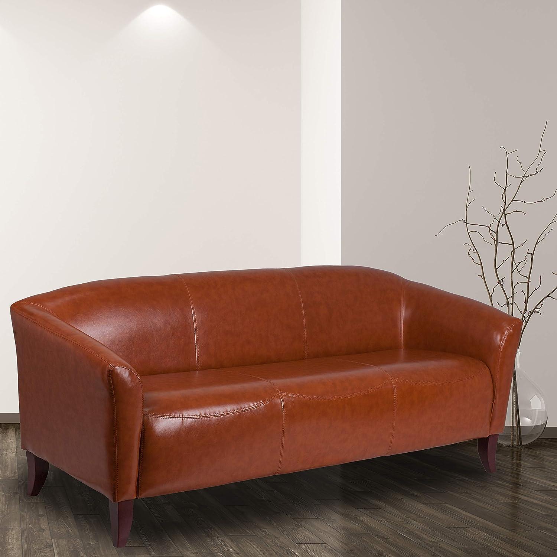 Flash Furniture HERCULES Imperial Series Cognac LeatherSoft Sofa