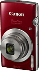 Canon PowerShot ELPH 180 (Red) with 20.0 MP CCD Sensor and 8X Optical Zoom