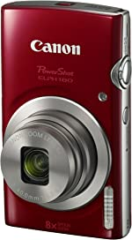 Canon PowerShot ELPH 180 Digital Camera w/Image Stabilization and Smart AUTO
