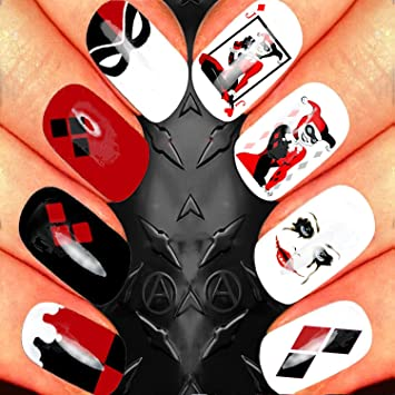 Harley Quinn Suicide Squad Nail Art Assortment Waterslide Nail