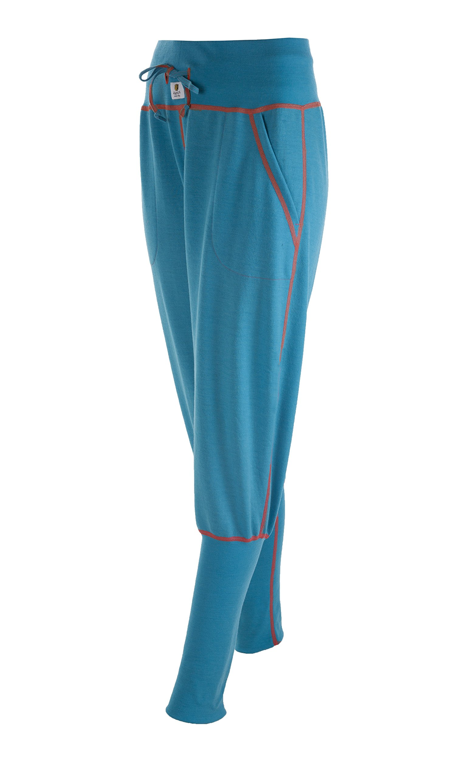 Janus 100% Merino Wool Women's Pants Machine Washable Made in Norway (X-Small, Turquoise)