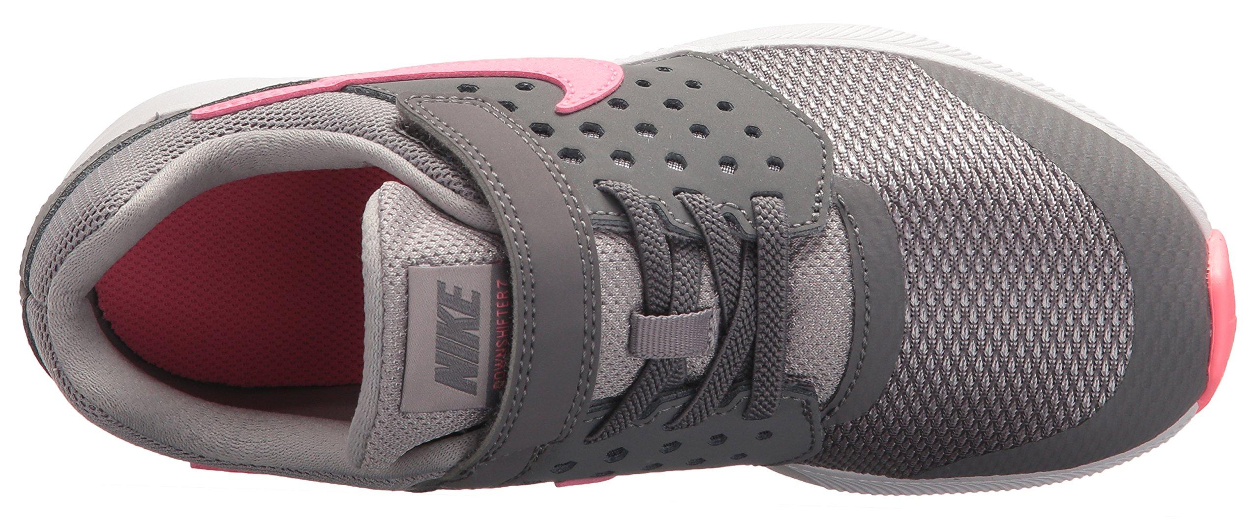 Nike Girls' Downshifter 7 (PSV) Running Shoe, Gunsmoke/Sunset Pulse-Atmosphere Grey, 2 M US Little Kid by Nike (Image #8)