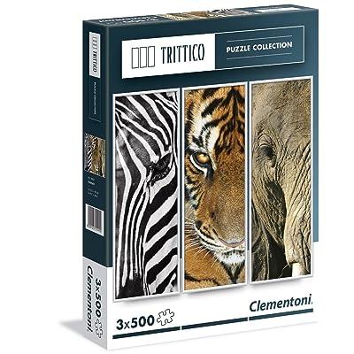 Clementoni 39307.7 - Puzzle Triptyque - Animaux - 3 x 500 pièces