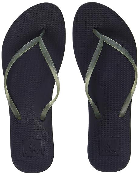 fb533e9d9 Amazon.com   Reef Women's Escape Lux Sandals, Navy, 9 M   Flip-Flops