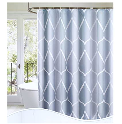 SLattye Luxury Shower Curtain Liner Water Repellent Fabric Mildew Resistant Washable Cloth Hotel