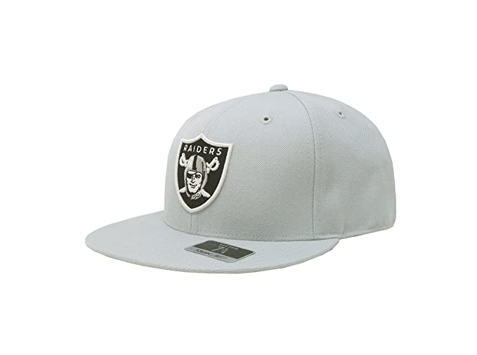 99a873096db Amazon.com   Reebok Men s Oakland Raiders Hat Nfl Fitted Grey Cap (7 ...