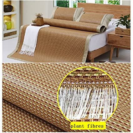 Amazon.com: hxxxy Chinese Style Mat Cool,Queen Size [Natural] Bamboo Easy to Clean Tatami Floor mat-A 135x195cm(53x77inch): Kitchen & Dining