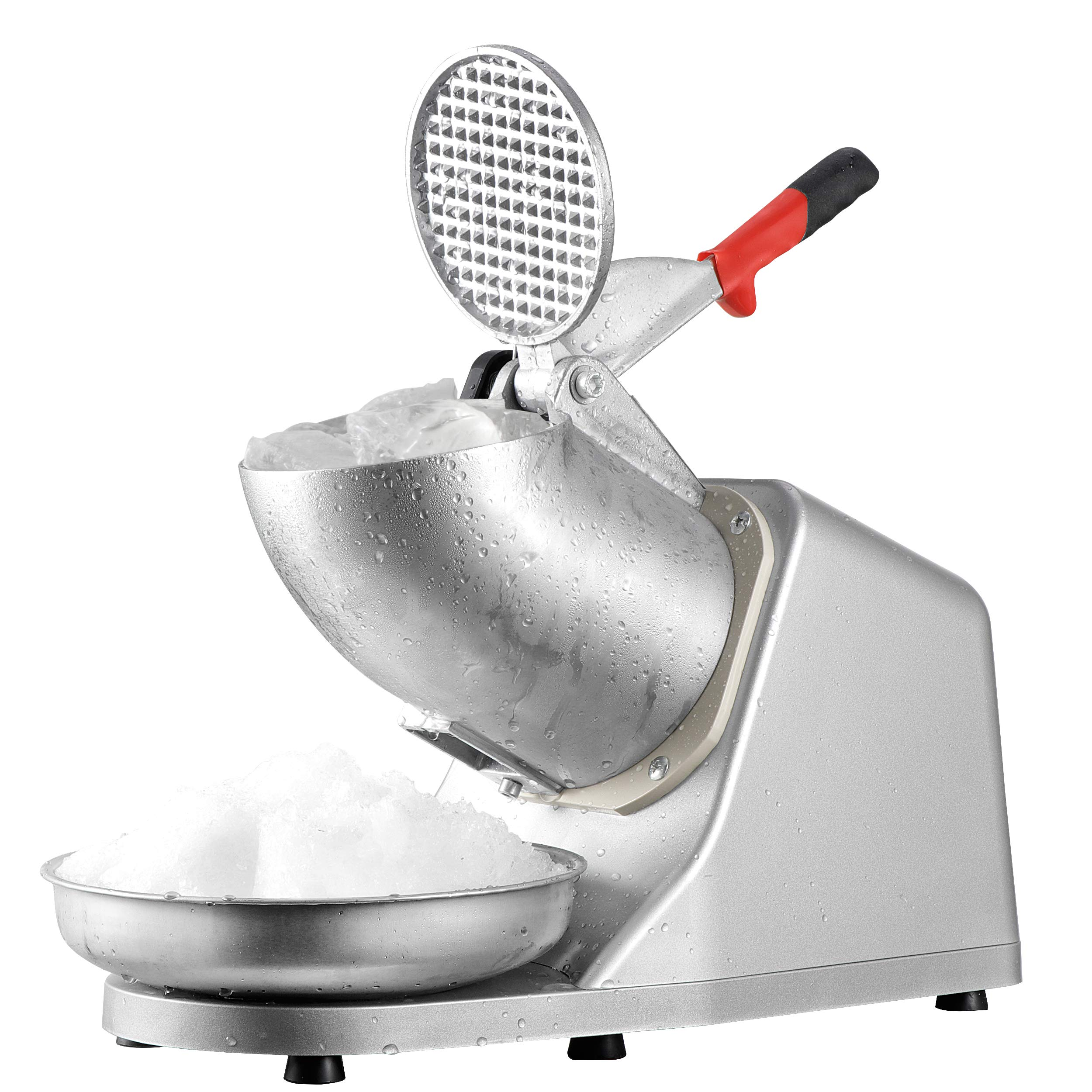 Super Deal Snow Cone Ice Shaver Shaved Ice Maker Machine Silver Snow Cone Maker Stainless Steel Shaving Smasher Silver (300b) by SUPER DEAL