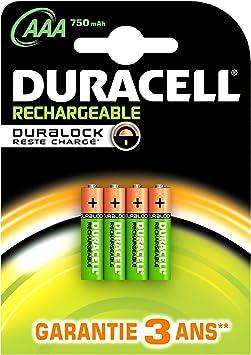 Duracell 4 AAA - Pilas AAA (NiMh, 1.25 V, 750 mAh): Amazon.es: Electrónica