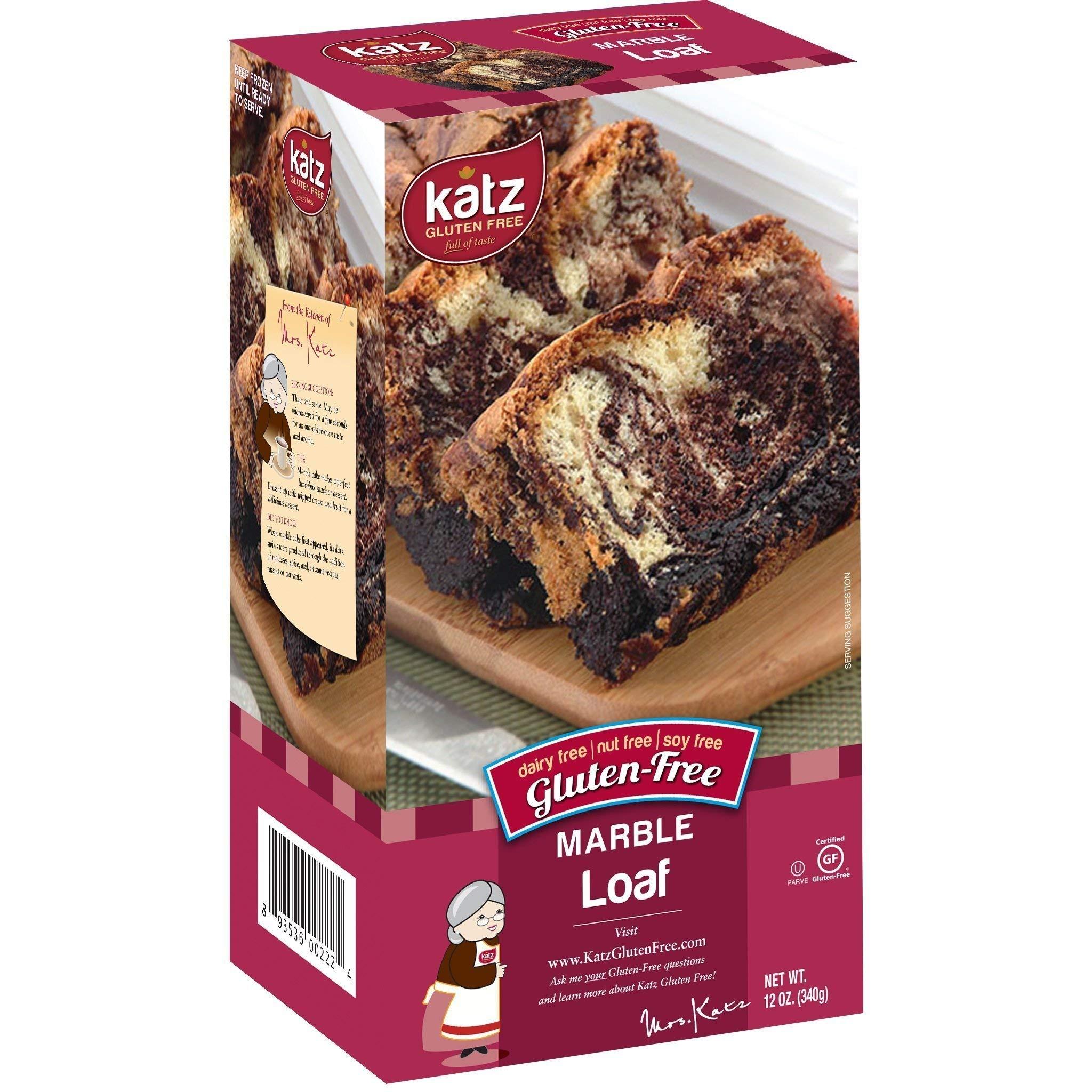 Katz Gluten Free Marble Loaf | Dairy, Nut, Soy & Gluten Free | Kosher 12 Oz (1 Pack)