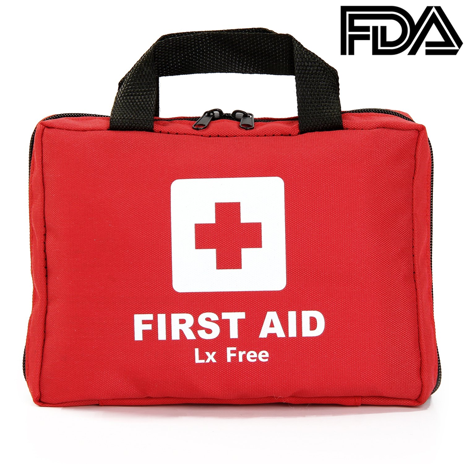 Lx Free First Aid Kit 297 Piece Compact for Medical Emergency for Home, Car, Camping, Hiking, Sports, Work, Office, Survival and Traveling - Big Quantity First Aid Products