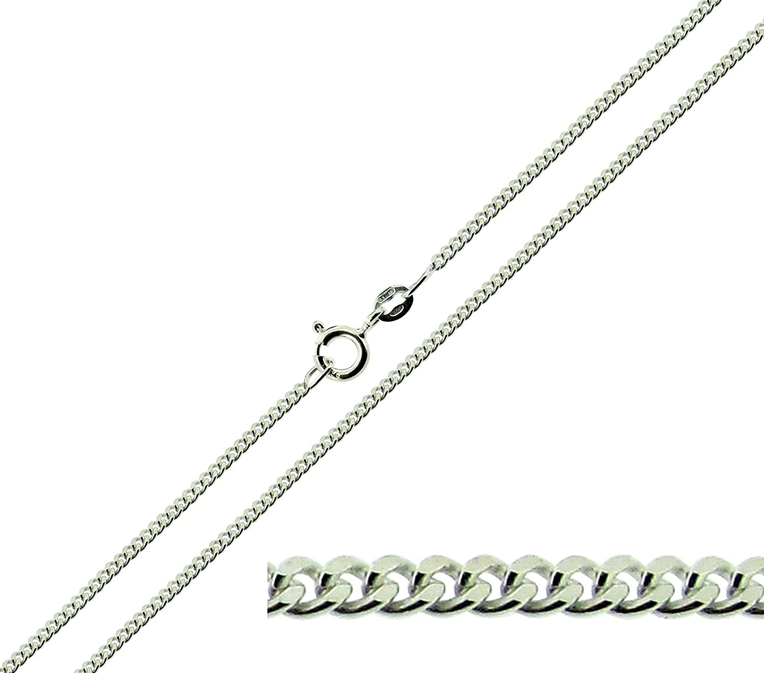 available in 16 to 40 Solid 925 Sterling Silver Large Ingot Pendant With Custom Hallmark 30mm x 16mm and Optional 1.8mm Wide Diamond Cut Curb Chain In Gift Box