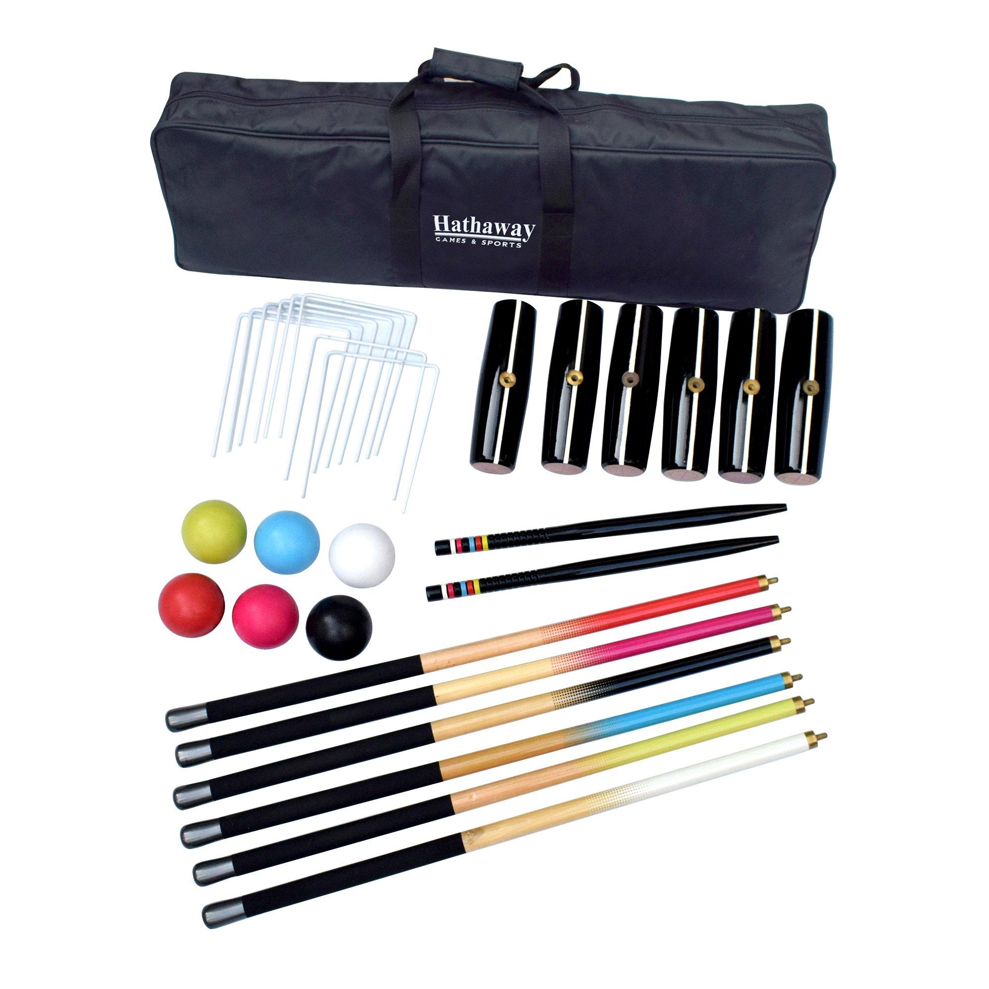 Hathaway Deluxe 6-Player Croquet Set Multi