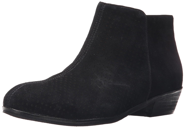 SoftWalk Women's Rocklin Chelsea Boot B011EZHR8W 10.5 W US|Black Perf Suede